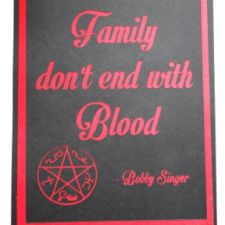 ... end with blood wall art $ 10 more quote wall art bobby singer quotes