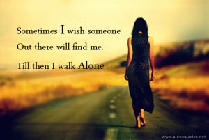 Sad alone girl in love with quotes wallpapers