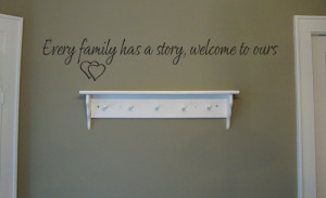 Welcome To Our Family Story Wall Decal - Trading Phrases