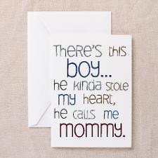 Baby Boy Quote for Mom Greeting Card for