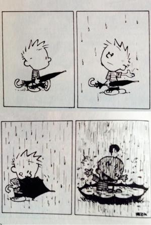 funny-picture-Calvin-rain-umbrella-playing-comic