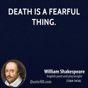 William Shakespeare Death Quotes