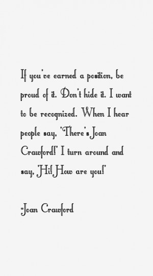 Joan Crawford Quotes & Sayings