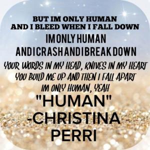 Christina Perri new song Human, lyrics