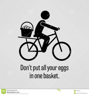 ... sayings, Do not put all your eggs in one basket with simple human