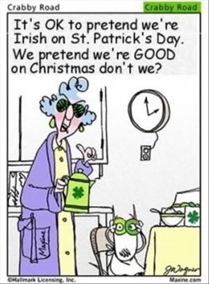 St. Patrick's Day-crabby road cartoon