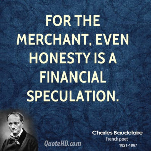 Charles Baudelaire Finance Quotes