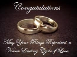 Congratulations....May your rings represent a never ending cycle of ...