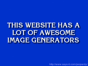 Jeopardy Clue Screen Generator