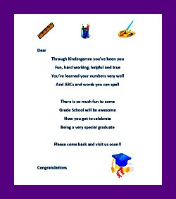 Kindergarten Graduation Ideas - Whole Day Activities