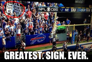 Tom Brady sits when he pees – Greatest. Sign. Ever.
