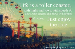 Life is a roller coaster with high and lows, with speeds & slows ...