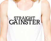 Gym Tank - Straight Gainster - Funn y Work Out Clothes - Making Gains ...