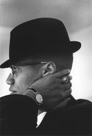 Portrait of Malcolm X, Chicago, 1961 by Eve Arnold