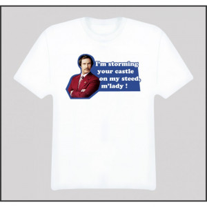 ron burgundy will ferrell anchorman quotes movie funny t shirt