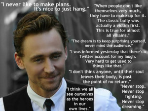 tom hiddleston 2013 | Tom Hiddleston Quotes by ~ApolloNico24601 on ...