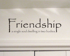 Friendship - Wall Quote Decal - Vinyl Wall Sign