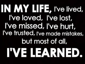 ve learned a lot....