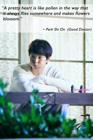 ... Parks, Kdrama Quotes, Moon Joowon, Good Doctors Quotes, Asian Dramas
