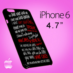 T0325 Hunter Hayes quotes lyric Iphone 6 Case
