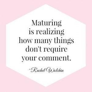 Maturity quote