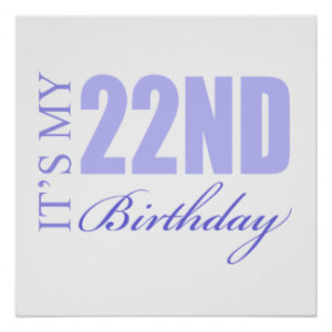22nd Birthday Gift Idea Posters