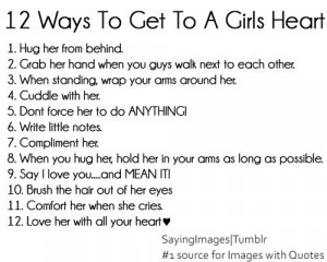 twelve #ways #girls #heart #love #boys #relationships #cute
