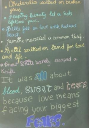 disney, fears, love, phrase, phrases, quote, story