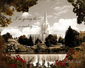 Idaho Falls Temple with quote Buy Now