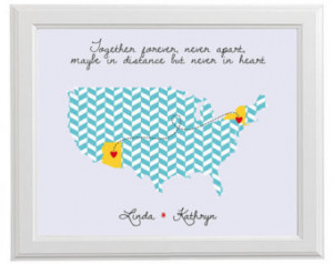 Distance Family Quotes Love map - family quote