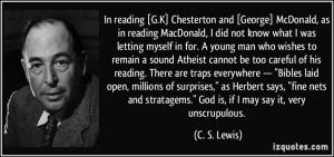 More C. S. Lewis Quotes