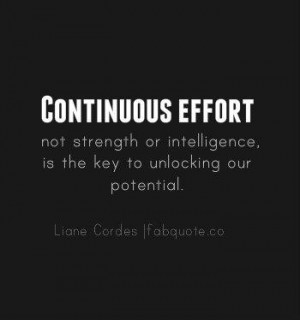 Liane cordes continuous effort quote