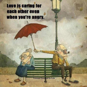 Love Is Caring For Each Other Even When You're Angry: Quote About ...