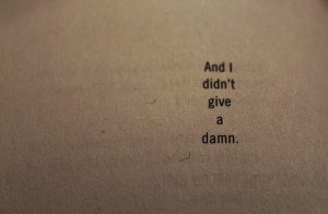 quotes about not giving a damn about love