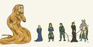 God Emperor of Dune doodles by Llewxam888