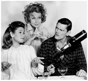 ... Montgomery, Agnes Moorehead and Dick York in 'Bewitched' in 1965