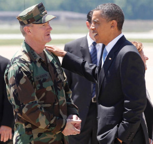 Admiral McRaven with President Obama