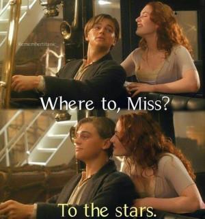 Leonardo DiCaprio Takes Kate Kate Winslet To The Stars On The Titanic