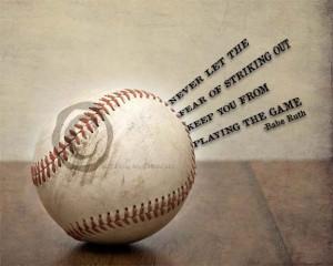 Baseball Quotes Babe Ruth Babe ruth quote - baseball art