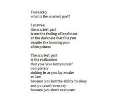 and you can't even cry because you don't even care Feeling Lost Quotes ...
