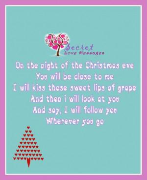Romantic Christmas Night SMS