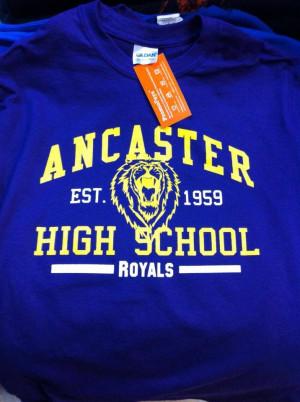 ... High School's spirit wear! Ancaster High School now has their full