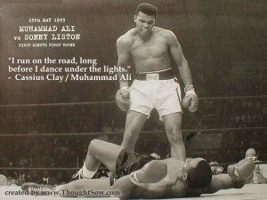 Hi team. One of my favourite Ali quotes, here to offer some ...