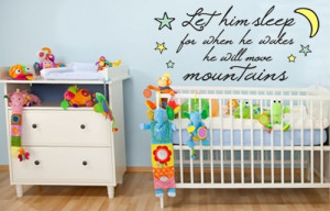 Quote for boys nursery wall♥