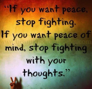 peaceful thoughts