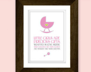 Precious little girl nursery art pr intable. Featuring bassinet ...
