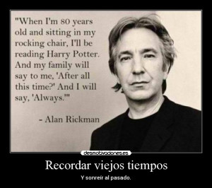 carteles alan rickman harry potter desmotivaciones