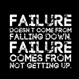 ... Getting Up: Failure Comes From Not Getting Up ~ Success Inspiration