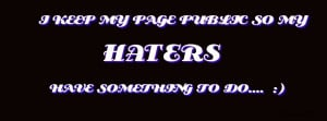 Haters Facebook Covers