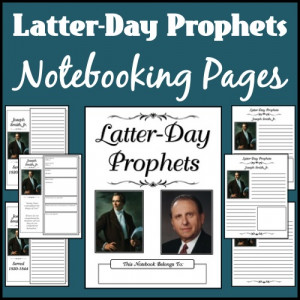 Latter-Day Prophets Notebooking Pages - Basic Lines